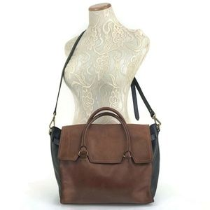 Madewell Dalloway Leather Tote Crossbody Bag